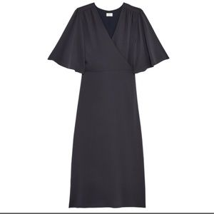 Aritzia grey Ailie wrap dress